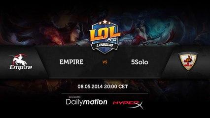 5SOLO vs Empire - game 1 (ENG)