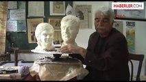 Ali İsmail ile Berkin'in Anneleri İçin Anneler Günü Hediyesi Büst Heykel Yaptı