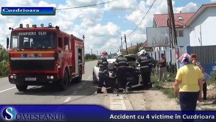 Accident cu 4 victime in Cuzdrioara