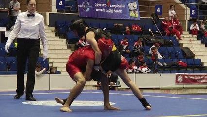 Bilal Talha vs Marco Crugnale - Championnat d'Europe wushu sportif 2014 - Finale Sanda -56 Junior
