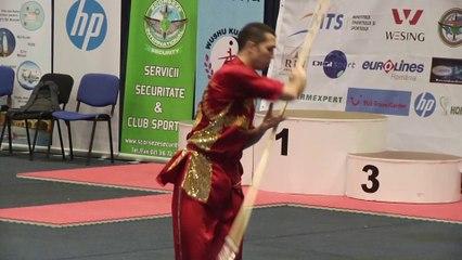 Pierre Rouvière - Qiangshu Senior optionnel - Championnat d'Europe Wushu 2014