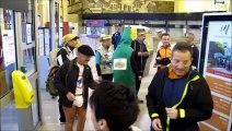 Route du Louvre : les marathoniens lensois prennent le train direction la ligne de départ à Lille