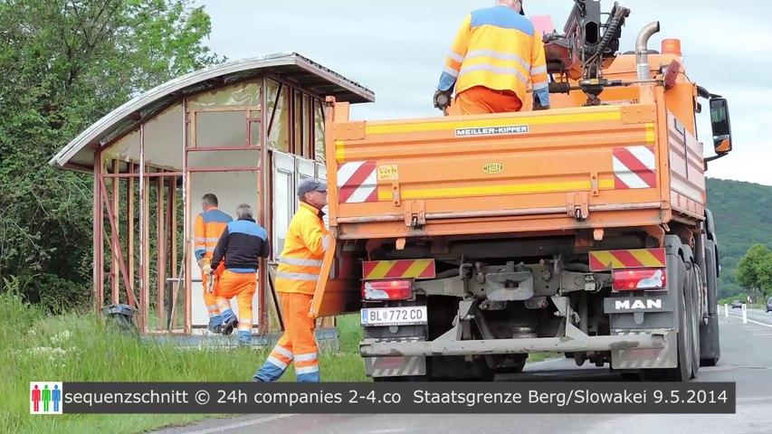 Abbau der Grenzeinrichtungen Österreich und Slowakei schreiten voran
