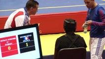 Kevin Petshi VS Murat Aydemir - Championnat d'Europe wushu sportif 2014 - Finale Sanda -60kg
