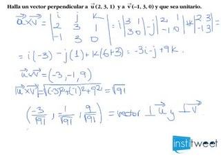 Producto vectorial. Ortogonalidad y vectores unitarios