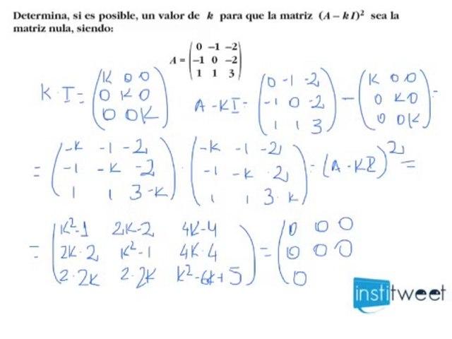Resolver un sistema de ecuaciones con matrices