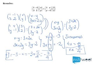 Matrices resueltas en bachillerato