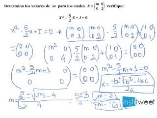 Matrices bachillerato Matemáticas
