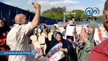 شاهد .. رقص و غناء مؤيدى السيسى في مؤتمر حملته الانتخابية