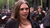 Elizabeth Olsen premieres 'Godzilla' in London