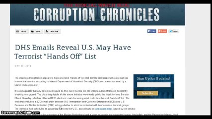 """Obama administration appears to have a terrorist """"hands off List"""
