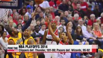 NBA Thunder and Clippers even series; Pacers go up 3-1 against Wizards
