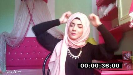 One minute Hijab Tutorial
