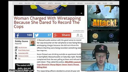 Women Chared with WireTapping Because she Dared to record the cops