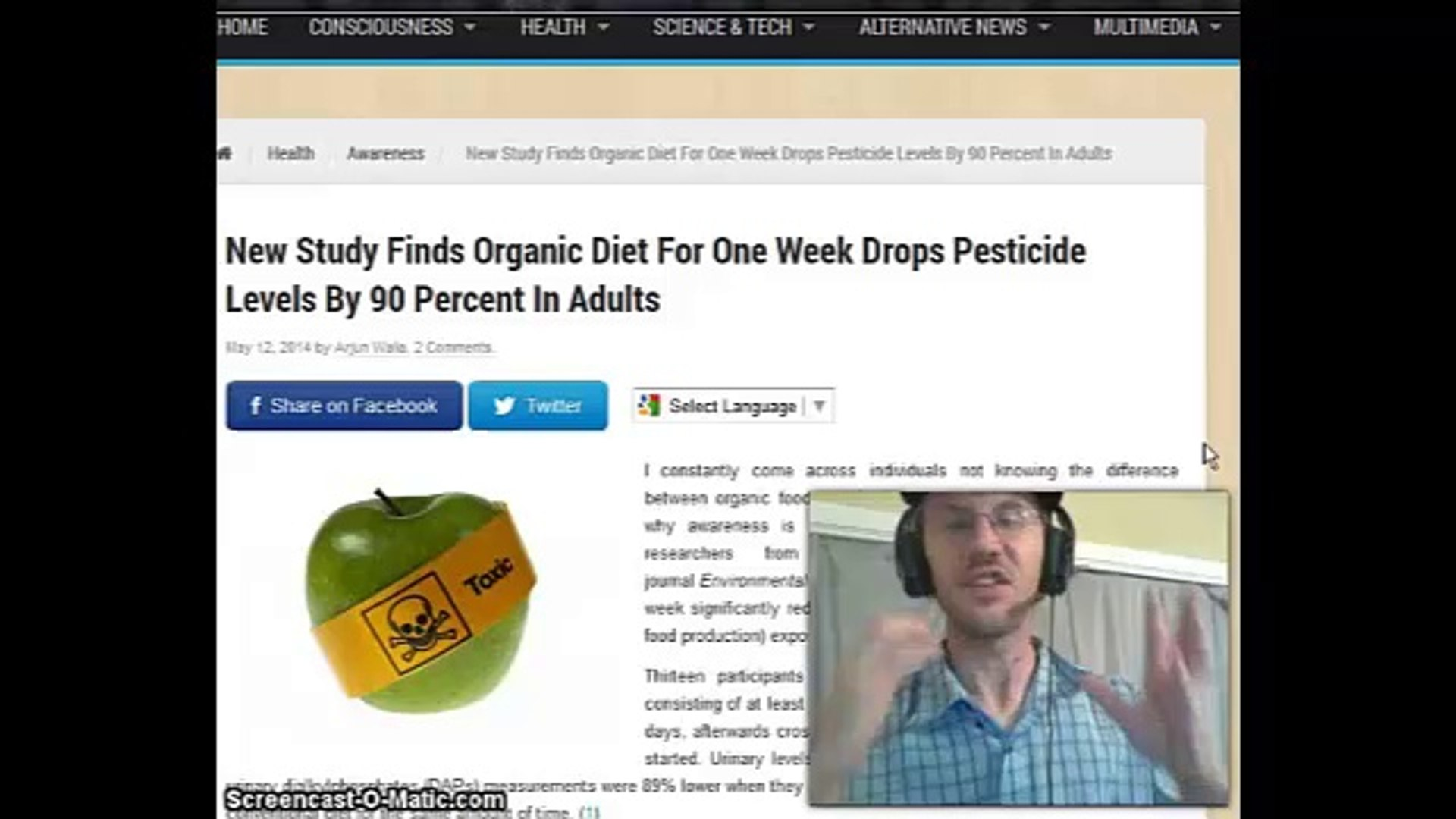 New Study Finds Organic Diet For One Week Drops Pesticide Levels By 90 Percent In Adults