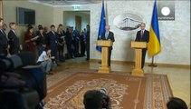 Kiev busca soluciones para Ucrania en Bruselas