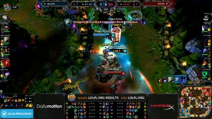 Dragon vs Rox.KiS Semifinals - game 1 (ENG)