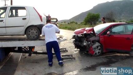 Σύγκρουση δύο οχημάτων στην Επαρχιακή οδό Θηβών Χαλκίδος