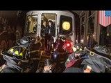New York 'F' subway train derails, 19 injured as 1000 passengers evacuated