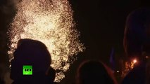 Donetsk celebrates newly-claimed independence from Kiev with fireworks