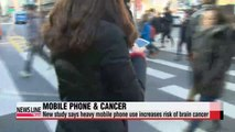 Study suggests heavy mobile phone use increases risk for cancer