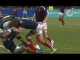 Plaquage de Chabal sur Morne Steyn lors de France vs Afrique du Sud au Stadium