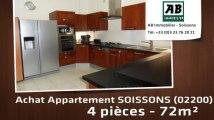 A vendre - appartement - SOISSONS (02200) - 2 pièces - 72m²