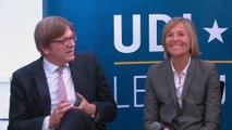 Marielle de Sarnez et Jean-Marie Cavada (Ile-de-France) reçoivent Guy Verhofstadt - le 13 mai