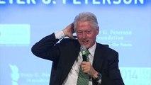 Bill Clinton mocks questions about Hillary Clinton's health