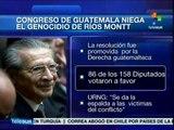 Congreso de Guatemala niega genocidio de indígenas