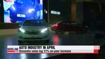 Korea's auto industry logs double-digit growth in production, domestic sales and exports in April