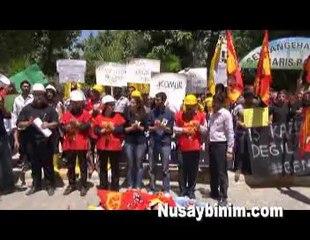 Nusaybin'de Soma için grev ve eylem