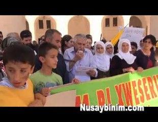15 Mayıs Kürd Dil Günü için Nusaybin'de yürüyüş