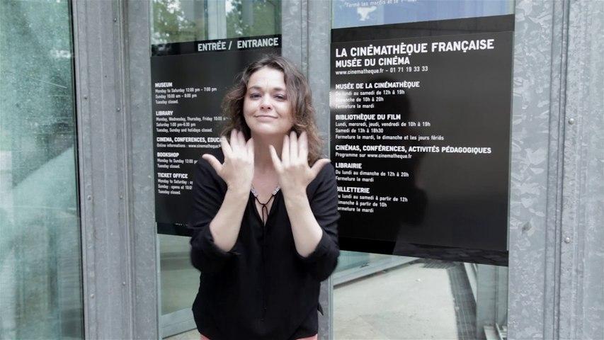 Présentation des visites en LSF à la Cinémathèque française