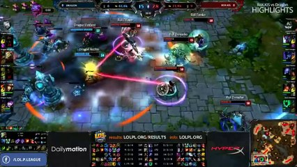 Highlights | Semi-finals - RoX.KIS -vs- Dragon - LPL Season 1 ENG