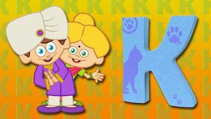 K Harfi - ABC Alfabe SEVİMLİ DOSTLAR Çocuk Şarkıları (Türkçe Çizgi Film - Klip)