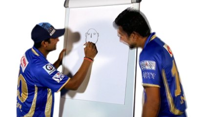RR ART: Rahul Tewatia draws Ankit Sharma