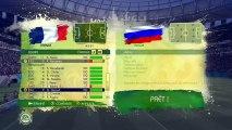Coupe du Monde de la FIFA, Brésil 2014 - Différents matchs du mode Coupe Du Monde