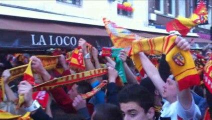 L'ambiance de la montée en Ligue 1 du RC Lens avant, pendant et après match