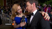 Jessica Chastain interviewed by James McAvoy at Cannes Film festival
