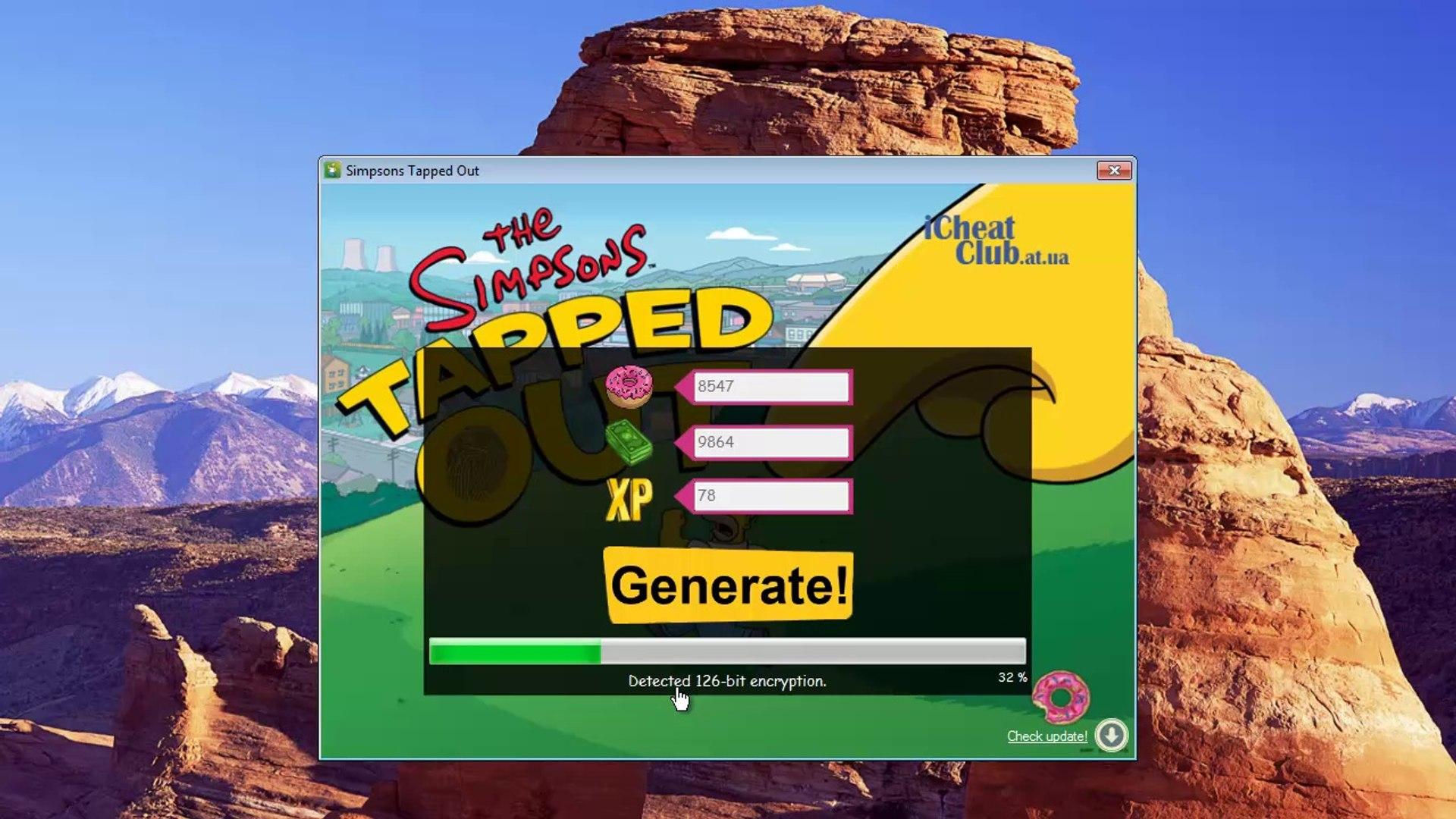 Los Simpsons tecleó 2014 Hack / Cheat Trabajo