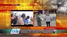 Chofer aparentemente ebrio y sin brevete arrolló a transeúntes en San Miguel