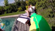 Crazy Pool Party filmed with GoPro! So funny moments...