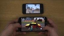 GTA San Andreas Samsung Galaxy Grand 2 vs. iPhone 4S HD Gameplay Comparison