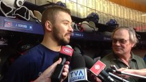 Josh Gorges after the Habs morning skate