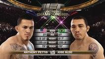 EA Sports UFC - Gameplay Series : José Aldo vs. Anthony Pettis
