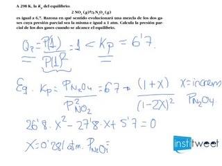 Cálculo de las concentraciones Kc y Kp