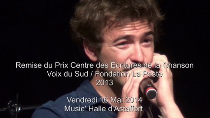 2014-05-16 remise des prix centre des écritures de la chanson 2013 Emilie Marsh & Benoît Dorémus