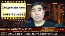 Chicago Cubs vs. New York Yankees Pick Prediction MLB Odds Preview 5-20-2014