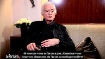 """Jimmy Page : """" Led Zeppelin ne se reformera pas sans le chanteur """""""